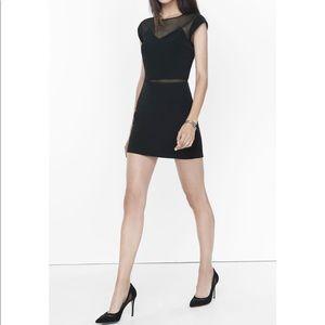 Express black mesh mini dress